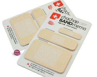 60 Post - it sticky notes shaped bandages school office memo pad
