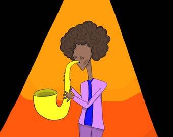 Digital Art: Jazz Man