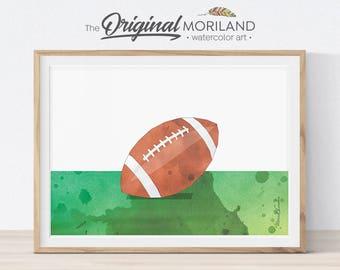 Football Wall Art, Football Printable, Football Print, Sports Decor, Football Gifts, Boys Room Decor, Kids Bedroom Art, Football Party