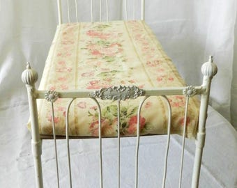 "Artisan Made American Girl 20"" Scale Wrought Iron Look Bed ""Sidney"""