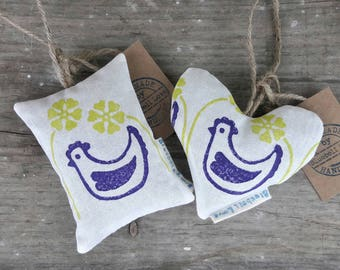 Chicken Lavender Bag, Lavender sachet, Chicken gift, Cute gifts, Lavender pouch, Scented pillow, Stocking filler, Secret Santa gift