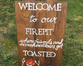 Wooden Plank Folding Sign