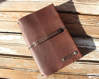 Midori style oil tanned leather traveler's notebook. Can also be used as a prayer journal, war room book, or planner.
