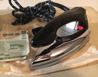 Vintage 1950s General Electric F49 World Wide Travel Iron TESTED AND WORKING