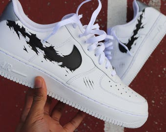 DEFY Nike Air Force 1 VAB Unapologetic Black Panther torn swoosh plus custom