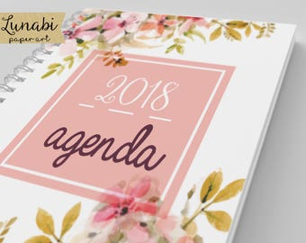 agenda 2018,2018 Daily Planner, 2018 Agenda ,Printable Planner Pages,agenda imprimible 2018.