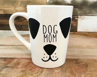 Dog Mom Cute Coffee Mug Dog Lover Coffee Lover Mug