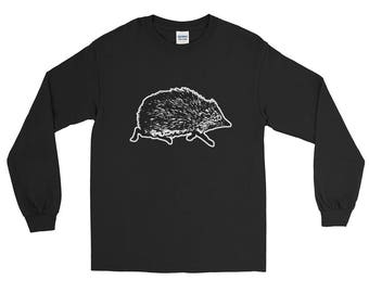 Long Sleeve T-Shirt Love Cute Hedgehog Gift Hedgehogs Lover Wildlife