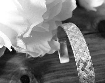 Sterling silver womens cuff bracelet for elegant and classic occasion
