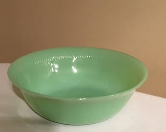 Fire King Jane Ray Jadeite Berry Bowl