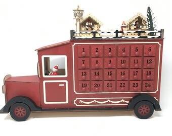 wood advent calendar etsy. Black Bedroom Furniture Sets. Home Design Ideas