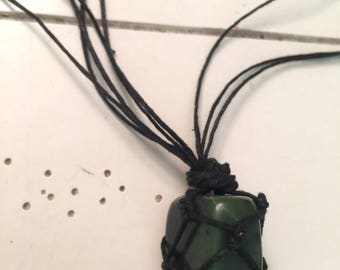 Jade crystal necklace