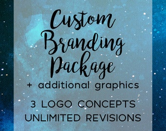 Custom Logo and Branding Package, Business Branding Kit, Watermarks, Social Media Marketing Package, Business Card Design, Photography Logo