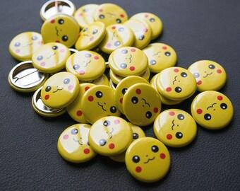 Pikachu-inspired Pin, Pokémon enamel pin, Pokémon button badge, Pikachu backpack badge, Pikachu enamel pin, cool button badges, Pikachu art