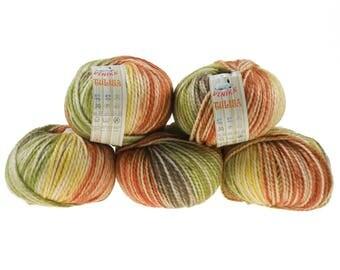 5 x 100 g yarn TULISA, #07-autumn magic