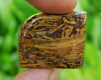 Fancy mariam jasper cabochon Natural loose stone Amazing cabochon Gemstone 32.30Cts. (26x23x5)mm (H-58)
