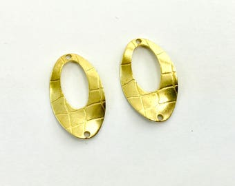 2pc High Quality Oval Brass Connector