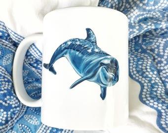 Bottlenose Dolphin Siehorse Fine Art Mug, 11 oz.