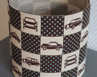 LAMPSHADE PATTERN VINTAGE CARS