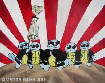 Squirtle Squad Painting - Print