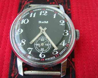 ZIM watch, Aviator watch, soviet watch, ussr watch, military watch, mens watch, russian watch, wrist watch, retro watch