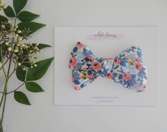 Large Rifle Paper Co. Hair Bow / Girl Headband/ Nylon Headband/ Cotton Bows/ Fabric Headband/ Spring Bows