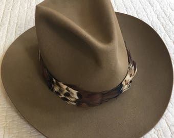 Vintage Knox Brown Beaver Ladies Cowboy Cowgirl Hat Made in Texas Ralph Lauren Polo Style