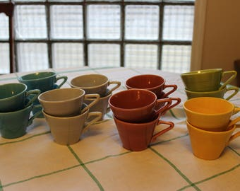 Harlequin Ware Cups by Homer Laughlin