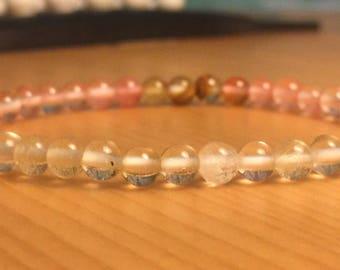 Watermelon tourmaline bracelet