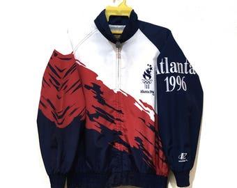 Rare 90s Vintage Olympic Atlanta 1996 USA team Winbreaker jacket M size