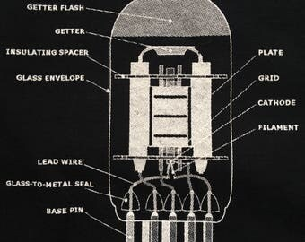 Vacuum tube shirt-analog-2XL