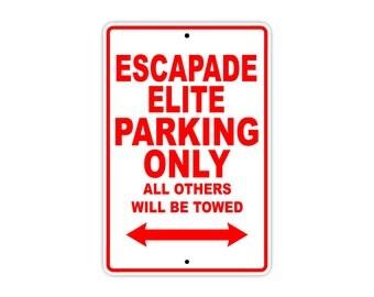 CALIFORNIA ESCAPADE ELITE Parking Only Motorcycle Bike Chopper Aluminum Sign