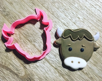 Bull or Cow Face Cookie Cutter