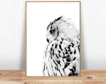 Owl Print, Owl Poster, Woodland Decor, Owl Wall Art Print, Kids Wall Art, Nursery Art, Nursery Decor, Owl Decor, Digital Download, Wall Art