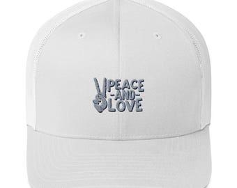 Peace and Love Trucker Cap