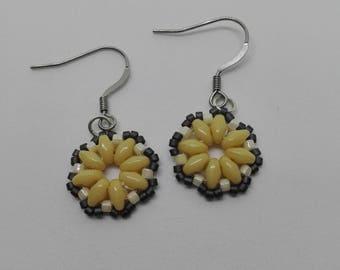 Miyuki and super duo beads earrings