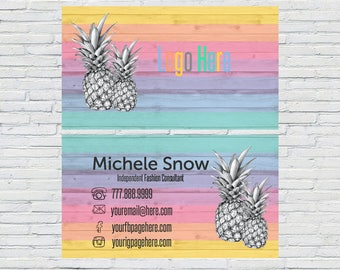 Custom Business Card, Business Card Design, Independent Consultant, Lula Business Cards, Pineapple Business Card, inspired by LLR, Printable