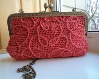 Very sweet and romantic hand crocheted purse