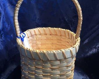 Braided Tulip handle basket