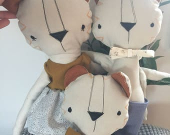 Doll Tiger stuffed animal toy baby and child