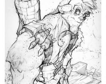 Velthaneus Pencil Print 019