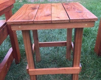 Old Growth Reclaimed Redwood Side Table