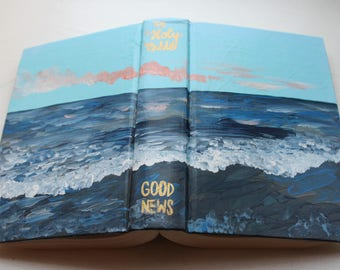 Oceans Hand Painted Bible