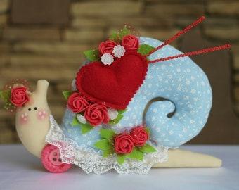Tilda snail Handmade doll Home decor Fabric doll Snail toy Textile doll Baby Doll Decorative Doll Interior doll