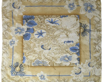 Vintage CODELLO 100% SILK women scarf Made in Italy flowers floral hand rolled