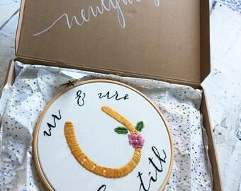 Mr & Mrs - Custom Wedding Embroidery Hoop 8''
