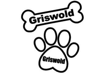 Personalized Pet Bone or Paw Decal