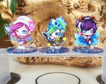 League of Legends Arcade Ahri, Riven, Miss Fortune Acrylic Standee