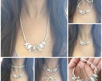 Quartz Seashell Necklace and Choker
