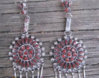 Zuni Coral Earrings